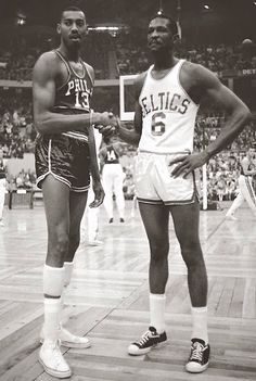 Wilt Chamberlain and Bill Russell