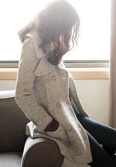 Double-Breasted Coat - Grey $74