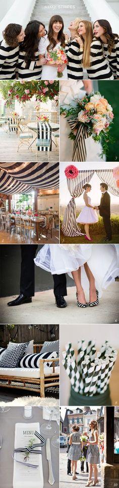 Black White Stripe Wedding Ideas EXCEPT I WOULD DO POLKA DOTS!!!!!!!!!!!!!!!!!!!!!!!!!!!