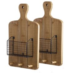 Organize your kitchen in cutting edge fashion with our Hanging Cutting Boards. Each design features a wire basket for recipes and pegs for those pesky keys. Solid Wood Shelves, Wood Floating Shelves, Wooden Shelves, Wall Organization, Medicine Organization, Baskets On Wall, Metal Wall Basket, Wood And Metal, Black Metal