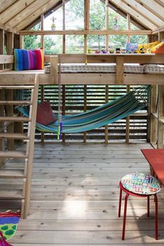 A grandmother-approved treehouse that the kids will love. #playhousebuildingplans #shedplans Tree House Designs, Tiny House Design, Home Design, Design Ideas, Design Design, Playground Design, Backyard Playground, Backyard Kids, Backyard Playhouse