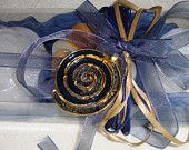 Denim Blue Gift Set for Women with Luxury Scented Soaps & a Gold-Blue Εnamel Handmade Jewelry Necklace