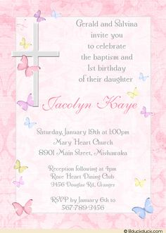 Invites Baptism Invitations Invitation Wording Birthday Party Wedding