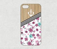 Anchor & Wood flower for iphone 4s case iPhone 5c by TimeCase, $0.20