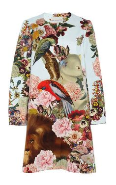 Lobelia Sky Printed A-Line Coat by Mary Katrantzou - Moda Operandi Fashion Prints, Fashion Art, Spring Fashion, Fashion Design, Cocktail Outfit, Textiles, Mary Katrantzou, Mode Inspiration, Textile Design