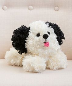 This crochet amigurumi pattern is sure to brighten anyone's day! Soft and cuddly, the Irresistible Crochet Puppy is the perfect toy for just about anyone. This dog would make a cute toy for a child, and a nice addition to any work space. Crochet Gratis, All Free Crochet, Cute Crochet, Crochet For Kids, Crochet Dolls, Easy Crochet, Crochet Dog Patterns, Amigurumi Patterns, Knitting Patterns