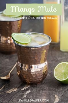 This Paleo Mango Mule is a fun, easy cocktail (or mocktail for the kids). It's a refreshing drink for any occasion that's sure to be a hit! Best Mocktail Recipe, Easy Mocktail Recipes, Drink Recipes, Easy Recipes, Paleo Recipes, Coctails Recipes, Mojito Recipe, Refreshing Drinks, Summer Drinks