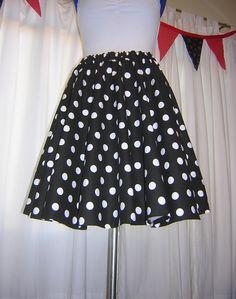 Black Red or Pink and White Polka Dot Circle Skirt Custom Made Any Size Womens dance skirt Cotton Full Skirt by TallGiraffe on Etsy https://www.etsy.com/listing/116816870/black-red-or-pink-and-white-polka-dot
