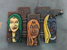 Clay Wall Art, Mural Wall Art, Mural Painting, Clay Art, Indian Artwork, Indian Folk Art, Indian Art Paintings, Emboss Painting, Tanjore Painting