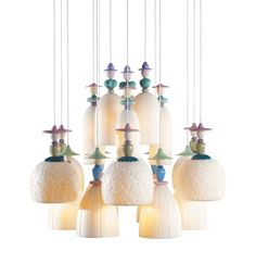 The best of Maison & Objet Paris 2016: Humour: Ceramic houses had fun with playful motifs, from Lladro's Mademoiselle chandelier to Nika Zupanc's rocking clock for Bosa.