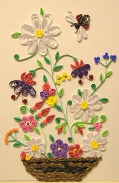 flower quilling patterns - would be fun with magazine pages or paper scraps