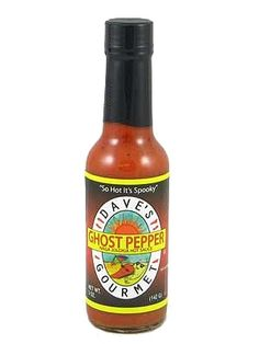 "Dave's (NEW) Ghost Pepper Naga Jolokia Hot Sauce  $10.50 for a 5 oz. bottle.  From Yahoo, ""This new product...started it all takes the Naga Jolokia pepper a.k.a. the infamous ghost pepper blends it with pure hot pepper extract, salt, & garlic...650,000 Scoville Units."""