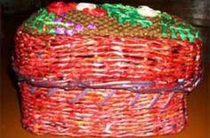 Хлебница из газетных и журнальных трубочек - мастер-класс. Плетение хлебницы из газетных и журнальных трубочек
