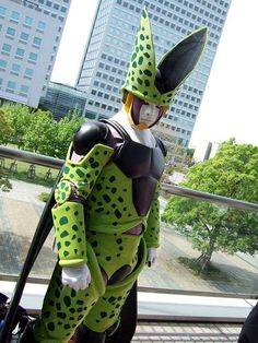 Perfect Cell from Dragon Ball Z cosplay. View more EPIC cosplay at http://pinterest.com/SuburbanFandom/cosplay/