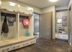 Mud room, great for a family! Custom Built Homes, Bonus Rooms, Floor Design, Mudroom, Game Room, Building A House, Entryway, Flooring, Tub