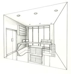 custom drawn design studio done in pencil