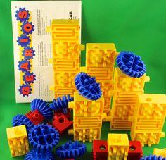 Vintage Tupperware Toys - Gearios Building Blocks by SmilingMemories on Etsy