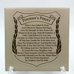 Fireman's Prayer black and tan ceramic tile, Fireman's Prayer, Old Person, Little Children, Give Me Strength, Give It To Me, How To Make, Call Of Duty, Own Home, 6 Inches
