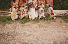 B.C. Wedding Photographer   Jennifer Armstrong   Floral Bridesmaid dresses