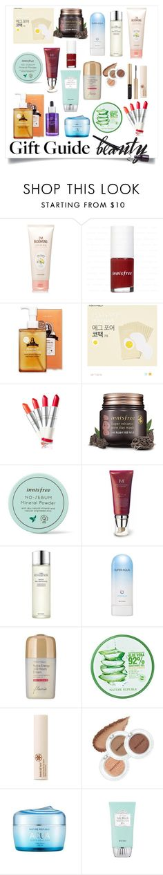 """the BEST korean beauty items"" by yoo6132 ❤ liked on Polyvore featuring beauty, Etude House, Missha, Innisfree, Tony Moly and nature republic"