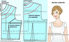 Patrón básico delantero de blusa personalizado (A medida o anatómico) (Actualizado) Dress Patterns, Sewing Patterns, Fes, Dress Cuts, Dressmaking, Sewing Tutorials, Planer, Knitting, Dresses
