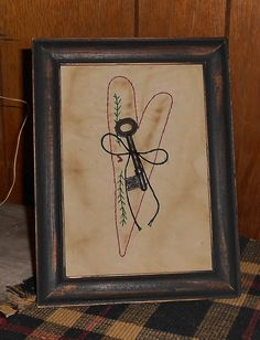 Key To My Heart Primitive Stitchery by TheOldBarnSale on Etsy,