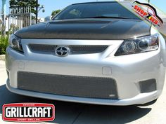 Scion TC Mesh Grille Grill Upper & Lower Insert 5PC Set Silver Grillcraft