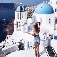 Match the white and blue city (Santorini, Greece). Oh The Places You'll Go, Places To Travel, Travel Destinations, Travel Pictures, Travel Photos, I Want To Travel, Travel Goals, Travel Hacks, Travel Style