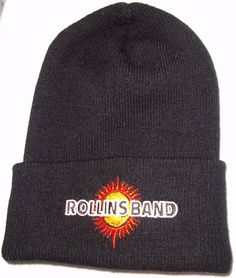 Rollins Band Henry Black Ski Cap Winter Hat Knit Beanie End of Silence Sun HTF…