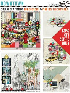 50%OFF Kit Collab Downtown by ninigoesdigi & Pink Reptile Designs - Forum :: Oscraps.com