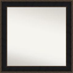 Wall Mirror Choose Your Custom Size - Large, Mezzanine Espresso Wood (Outer Size: 40 x 40-inch), Black/Bronze