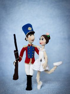 2-in-1 - Soldier & Ballerina - The Steadfast Tin Soldier (Hans Christian Andersen tale) - ToyMagic Сrochet Pattern [PDF instant download] by ToyMagic on Etsy https://www.etsy.com/listing/466196760/2-in-1-soldier-ballerina-the-steadfast