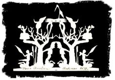 Hans Christian Anderson, paper-cut - Gnomes 1870