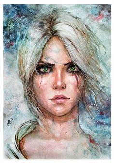 Ciri, Lia Gerasimova on ArtStation at https://www.artstation.com/artwork/ciri-63e3d99a-e669-49b7-b8b5-c8cb3390c4e4