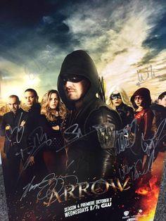 Signed #Arrow Season 4 Poster #SDCC