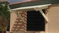 wood window awnings