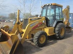 1998 John Deere 410E Loader Backhoe. Example of an Auction Item Sold Online by Hansen  Young, Inc. Auction Items Were Located at Chippewa Falls, WI.