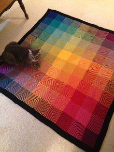 hue shift afghan pattern knitpicks - Google Search