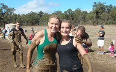 Team Forch all smiles despite the mud!