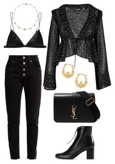 """Untitled #2114"" by kellawear ❤ liked on Polyvore featuring Balenciaga, Boohoo, T By Alexander Wang, Lee Angel Jewelry, Yves Saint Laurent and BillyTheTree"