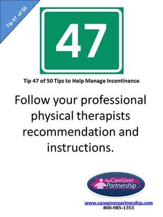 Tip 47 of 50 Tips to Help Manage Incontinence #incontinence #incontinenceproducts #caregiver