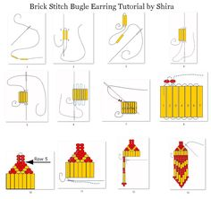 How to: Brick Stitch Bugle Earrings featured on Bead-Patterns.com Newsletter!