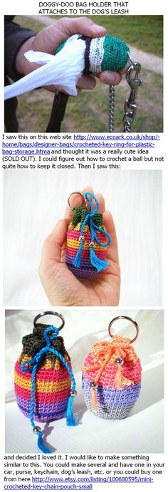 Doggy-doo bag holder to crochet - *Inspiration*