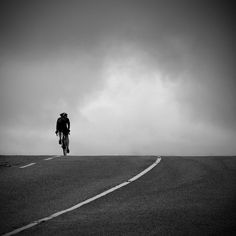 Cycling photo, bike photo, black and white fine art photography, lonely cyclist, 12 x 12 by MitchMcfarlanePhotos on Etsy https://www.etsy.com/listing/105489850/cycling-photo-bike-photo-black-and-white