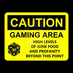I'm in the process of developing a line of plastic signs for my Etsy shop. These will be light yellow plastic with black vinyl to hang on walls and door. Gaming Area Caution Sign Decal or T-shirt Gamer Meme, Plastic Signs, Diy Artwork, Room Signs, Funny Signs, Gaming, Feelings, T Shirt, Decal