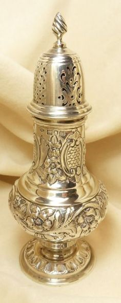 RosamariaGFrangini | Antiques | Late Victorian silver sugar caster London 1900 posted by Redlandspoodles.com