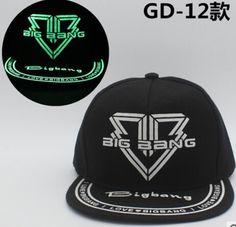 82b8ca881a7 kpop BIGBANG luminous cap men and women baseball cap cap hat flat  fluorescent hip hop Glow hat gorras planas k-pop Supernatural Style