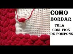 COMO BORDAR TALAGARÇA COM FIO DE POMPONS E AGULHA DE CROCHE TUTORIAL MARLY THIBES - YouTube Crochet Necklace, Canvas, Crafts, Youtube, Homemade Rugs, Plastic Canvas Crafts, Crochet Sunflower, Home Decor Accessories, Crochet Flowers