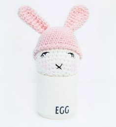 Crochet egg & egg cozy, free pattern by inArt  ~ LINK CORRECT and pattern is FREE when I checked