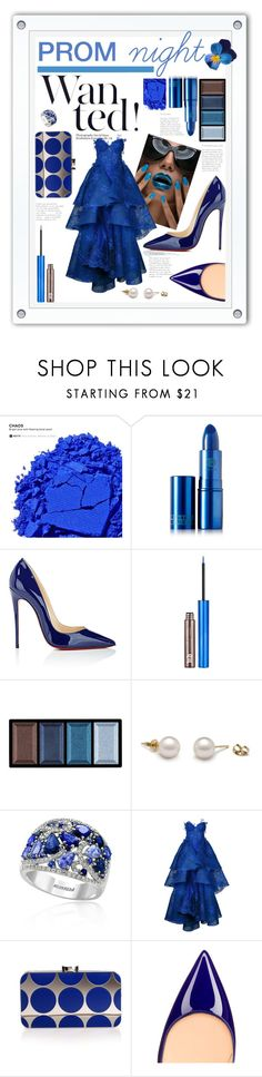 """Prom night ""blu"""" by ornellag ❤ liked on Polyvore featuring Urban Decay, Lipstick Queen, Christian Louboutin, Clé de Peau Beauté, Effy Jewelry, Nedret Taciroglu Couture and Manolo Blahnik"